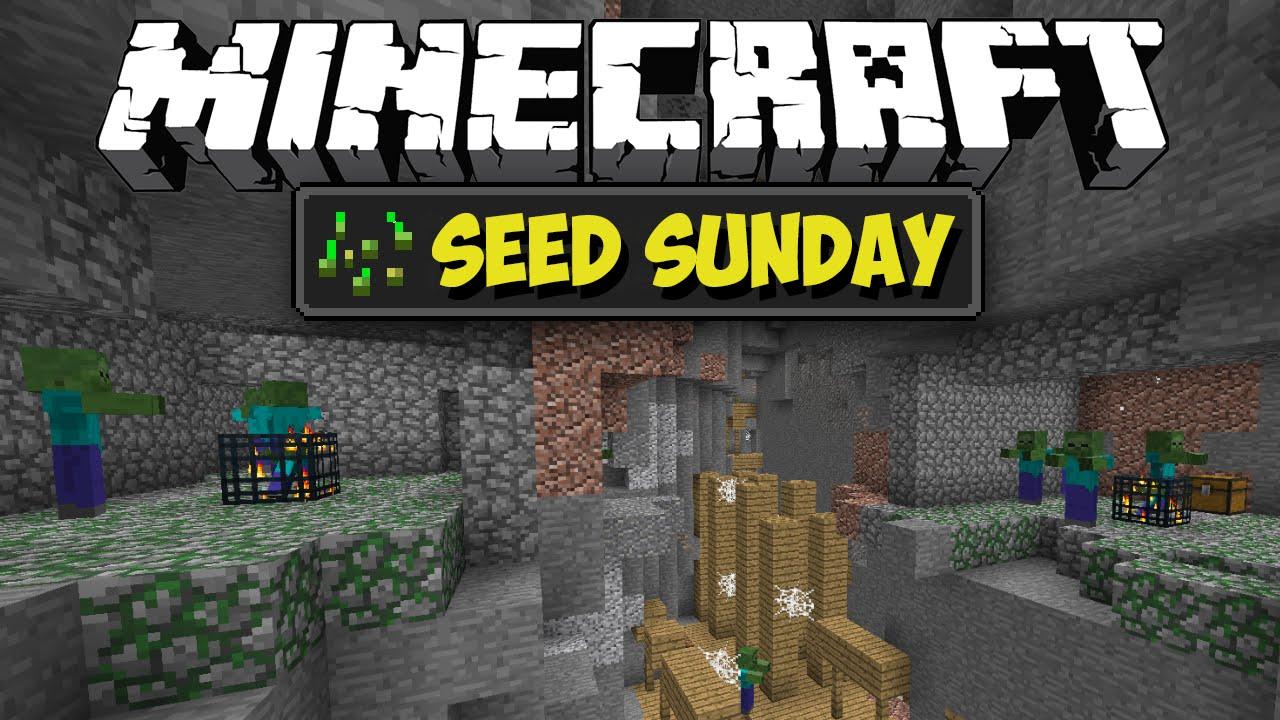 Minecraft Seed Sunday Mc189 Ep163 Double Ravine Dungeon Village