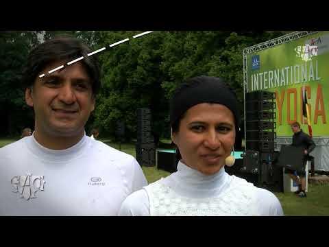 International Yoga Day 2016, Reetu Mehta on Astad TV news, Belgium