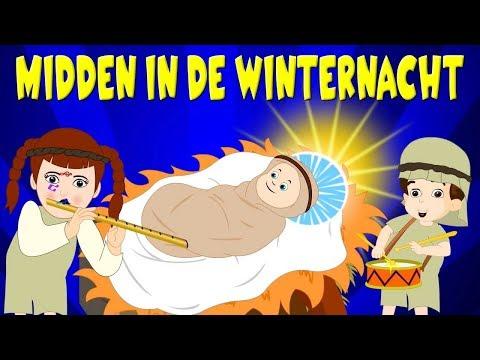 Nederlandse Kerstliedjes | Midden in de winternacht etc. | Kinderliedjes