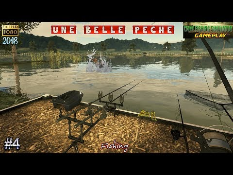 CARP FISHING SIMULATOR #4 UNE PÊCHE EPIC - LA CARPE L'ESTURGEON LE BROCHET LE SILURE LE SANDRE 2018