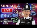 Live English Lesson - 30th September 2018 - Police / Law / Phrasal Verbs / Duncan and Steve