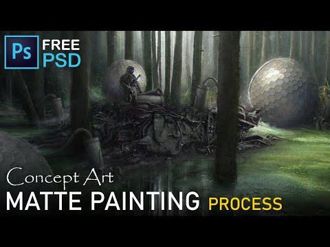Matte Painting Process | Environment Concept Art | Photo manipulation | Photoshop Time Lapse