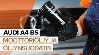 AUDI A4 Öljynsuodatin vaihto: ohjekirja
