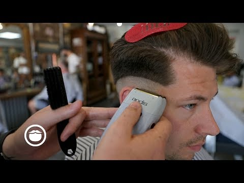 Thick Hair Side-Part Skin Fade