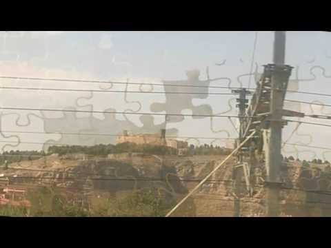 Tren AVE (alta velocidad) Barcelona -  Madrid. Pintorescos paisajes españoles para ver.