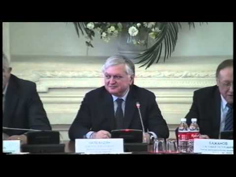 Министр иностранных дел Республики Армения Э.А. Налбандяна в Дипломатической академии