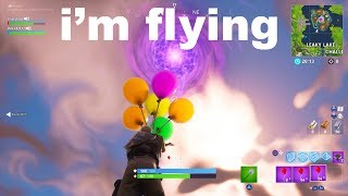 So I tried using Balloons to FLY to the PORTAL in Fortnite, then this happened...