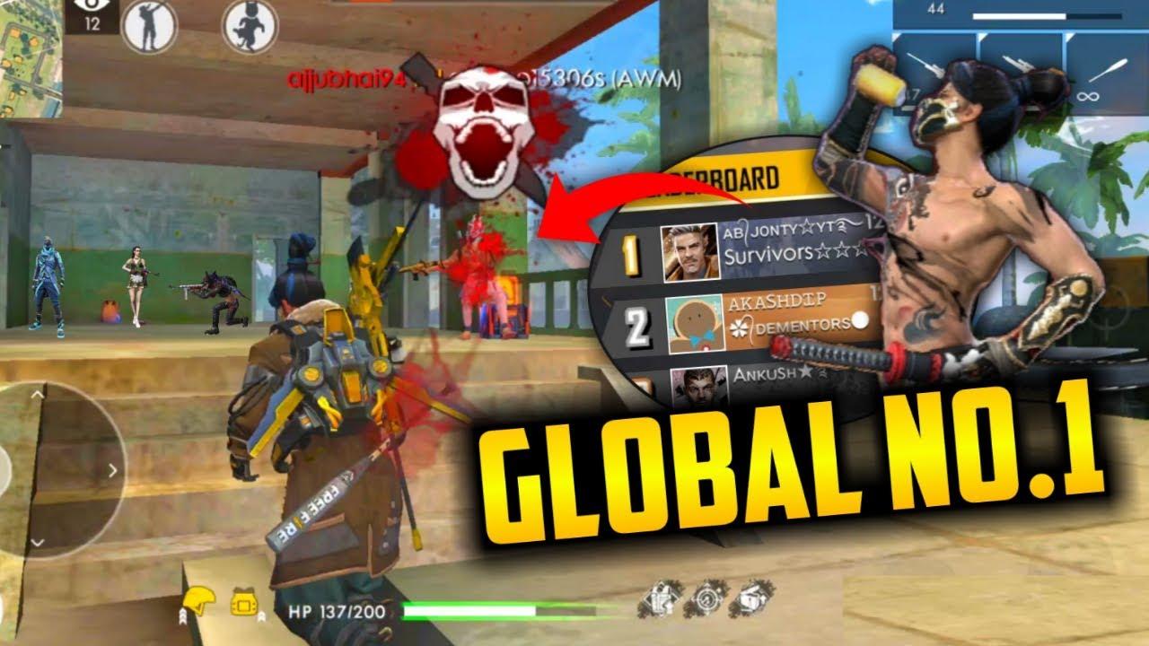 Global No 1 Player Jonty Awm Duo Match Garena Free Fire Youtube