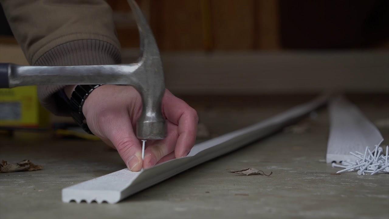How To Install Vinyl Thermostop Garage Door Trim
