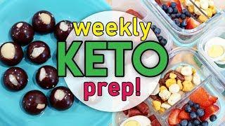 🔥 EASY KETO MEAL PREP! 🤩 LOW CARB MEAL PREP FOR THE WEEK AHEAD 🍽 BREAKFAST LUNCH & DINNER