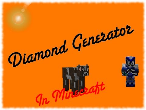 How to make a diamond generator in minecraft