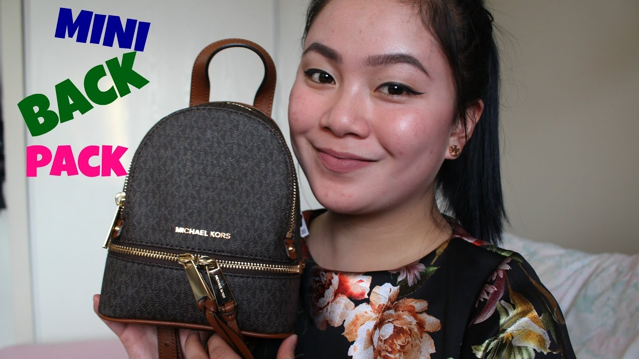 First And Impression Kors Mini Michael BackpackUnboxing WE9IDH2Y