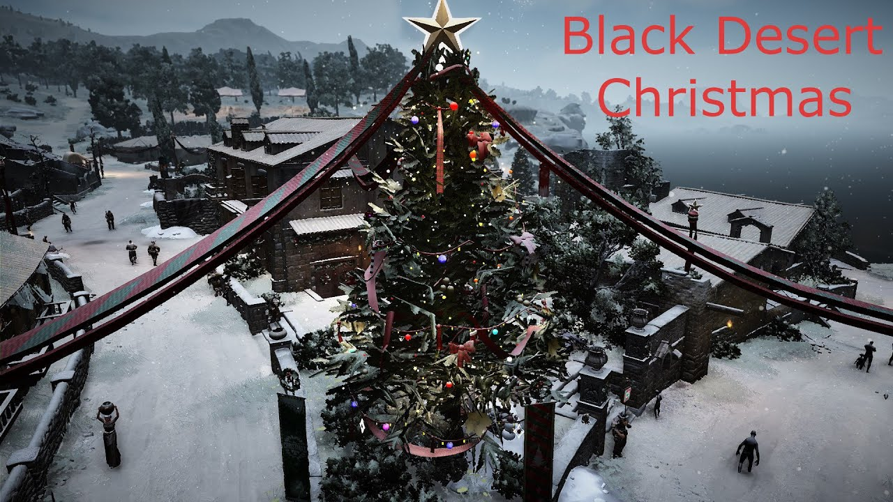 black desert online christmas town decorations youtube