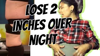 How to Lose 2 inches Overnight!! Castor oil wrap