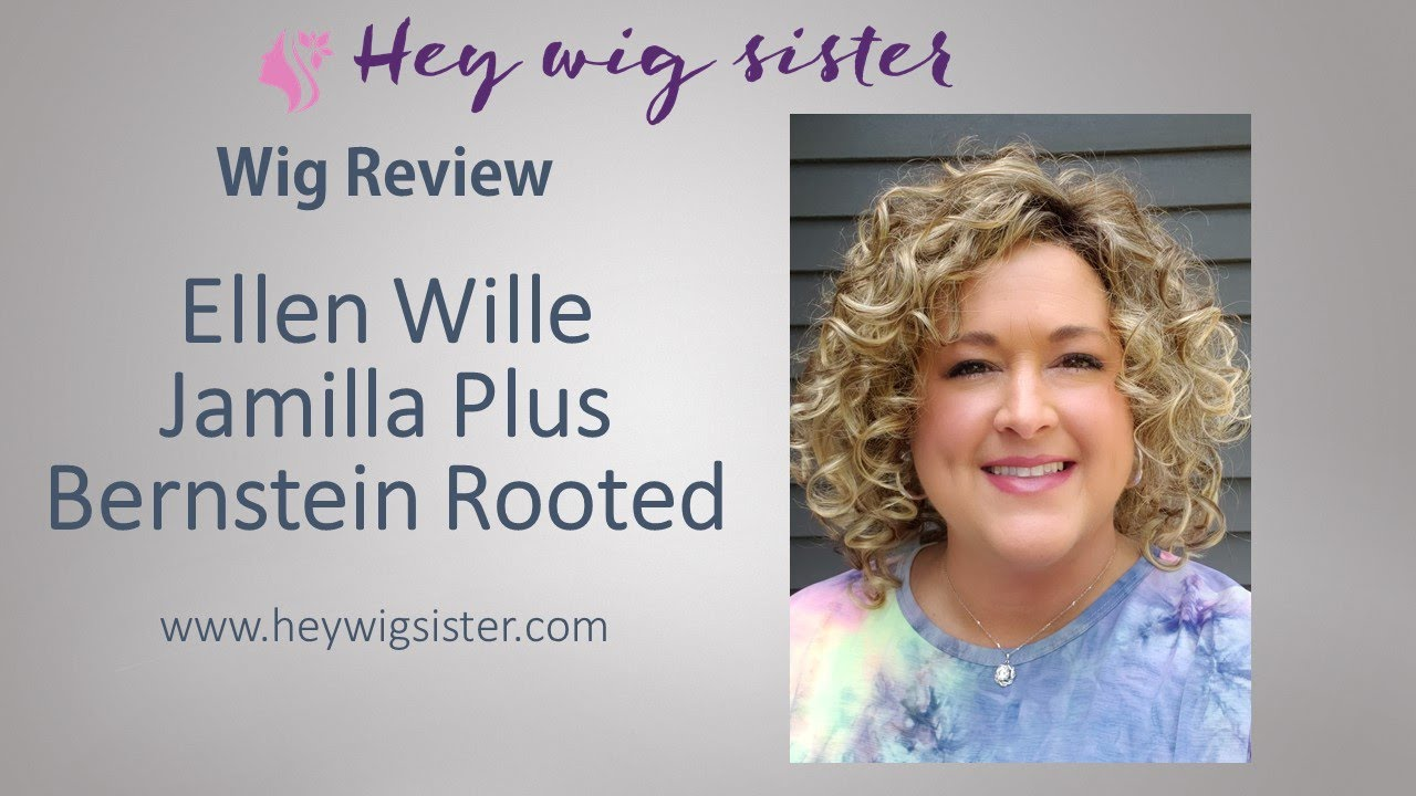 WIG REVIEW Ellen Wille Jamila Plus Bernstein Rooted- SUPER CURLY style with a lace front