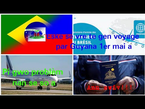 #vwayage#Brésil san#visa. Yon #voyage te fèt le 1er mai par #Guyana. Problème nan kounye a se #so a.