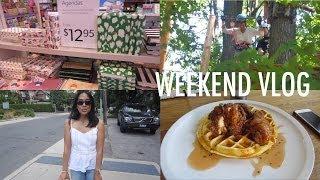 vlog | treetop trekking, brunch, ootd