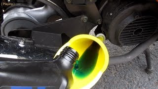 Taotao ATM150-A Evo scooter GY6 150cc - How to change the engine oil