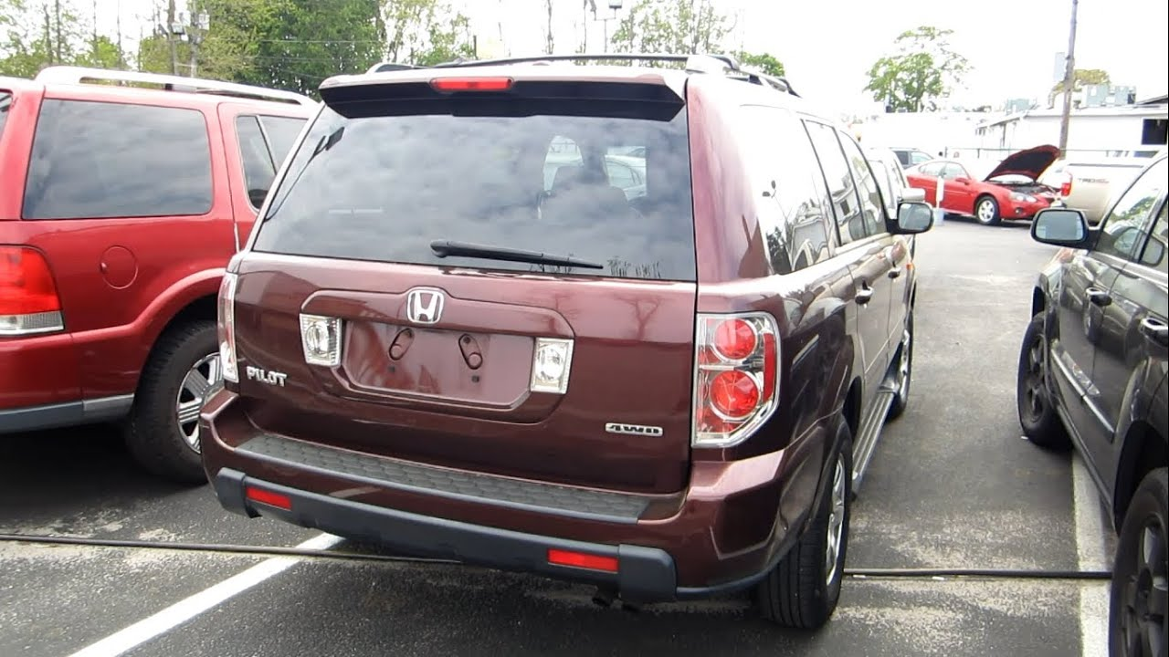 Perfect 2007 Honda Pilot EX L 4WD Startup, Engine, Full Tour U0026 Overview   YouTube