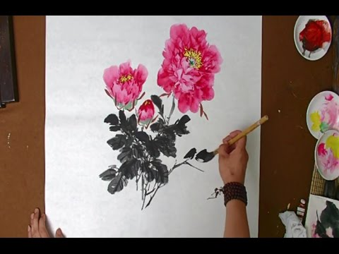 Flowers Painting in Chinese Watercolor | Traditinal Chinese