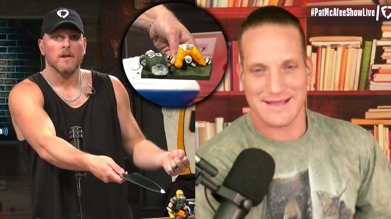 Pat McAfee Stabs AJ Hawk On The Pat McAfee Show Live