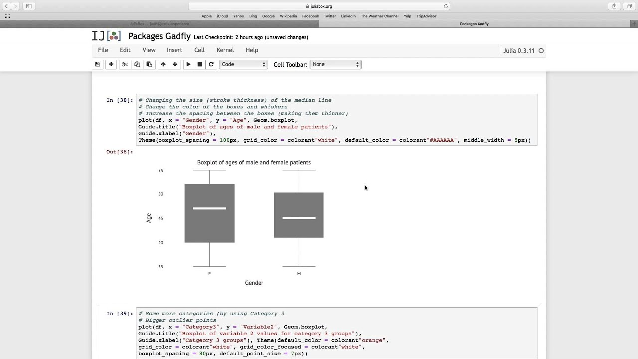 Package Gadfly 03 DataFrame Data and Boxplots