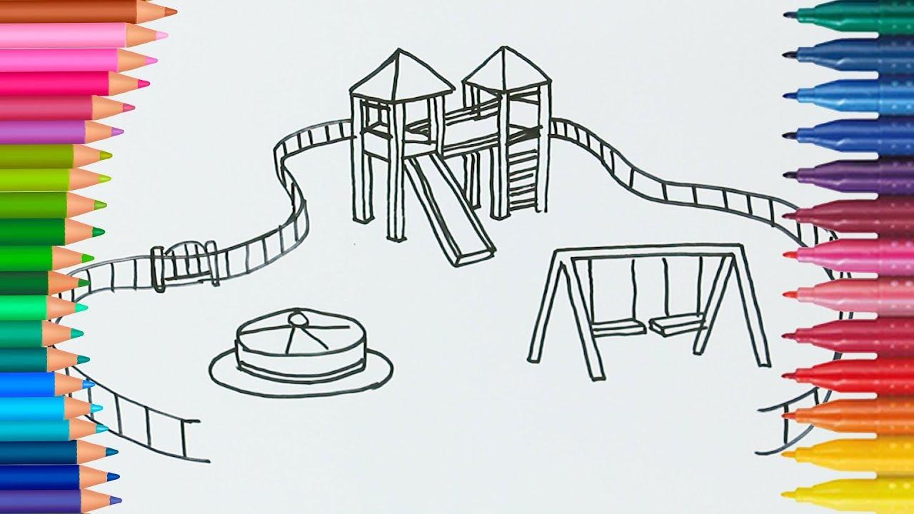 Colori Di Apprendimento Da Colorare Parco Giochi L Bambini Colori