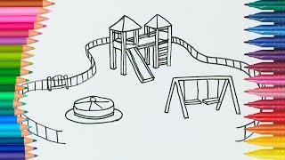 Colori di Apprendimento da Colorare Parco Giochi l Bambini Colori Arcobaleno Terreno di Gioco