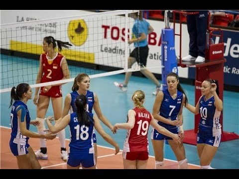 Russia vs China (3rd place/Hạng 3) - Montreux Volley Masters 2014