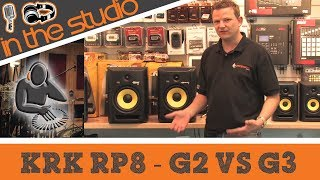 KRK Rokit RP8 G3 vs G2 - We Compare KRK Rokit 8 Studio Monitors