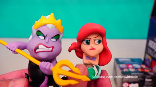 disney villains vs heroes surprise toys with ariel peter pan frozen anna cpt hook ursula more