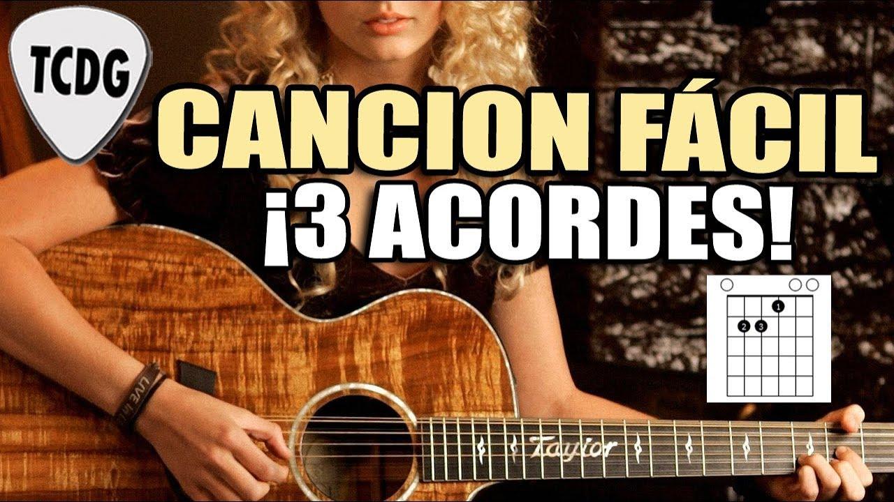 Canción Fácil En Guitarra Para Principiantes Solo 3 Acordes Se Me Olvidó Otra Vez Youtube