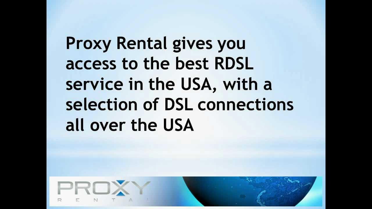 Rent the Best USA Proxies From Proxyrental