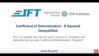 Level II CFA Coefficient of Determination R squared Demystified