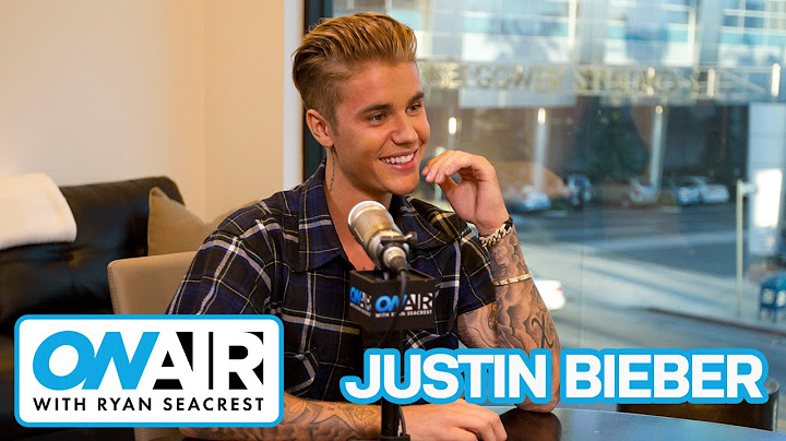 justin bieber reveals new song what do you mean  on air with ryan seacrest