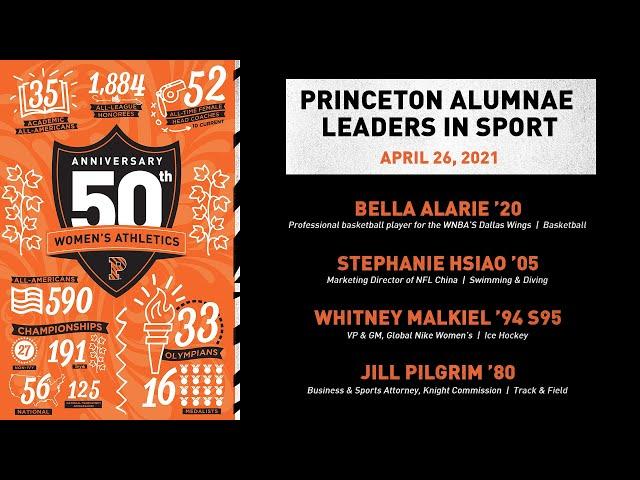 Princeton Alumnae Leaders in Sport (April 2021)