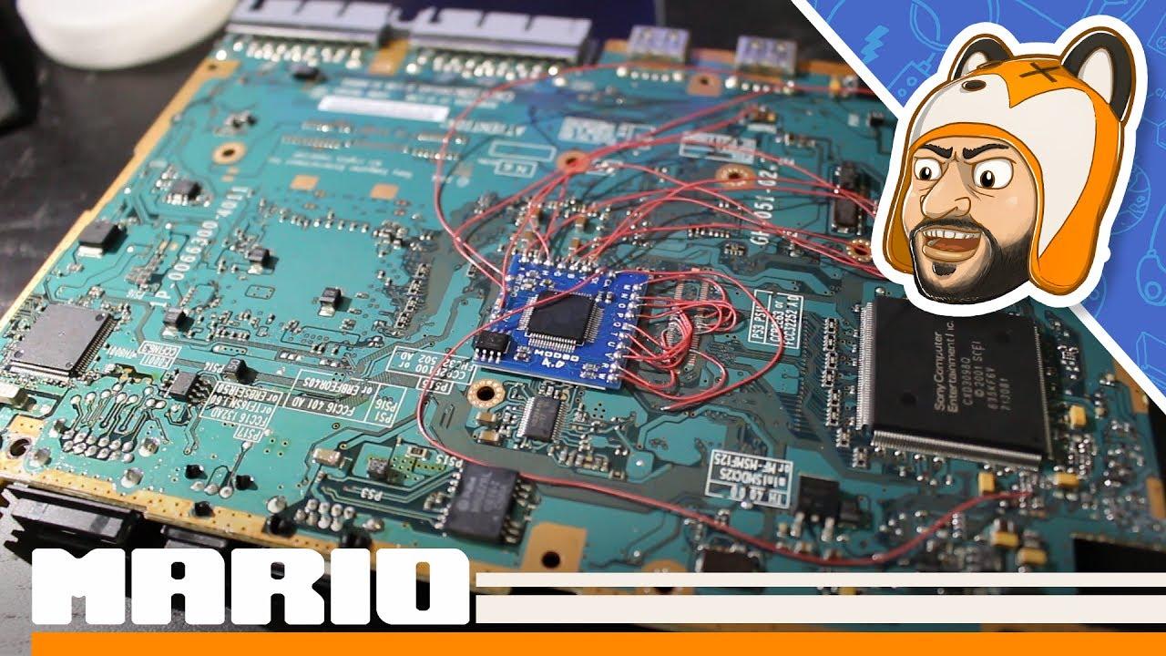 ps2 slim modbo 4 0 modchip install overview demonstration [ 1280 x 720 Pixel ]