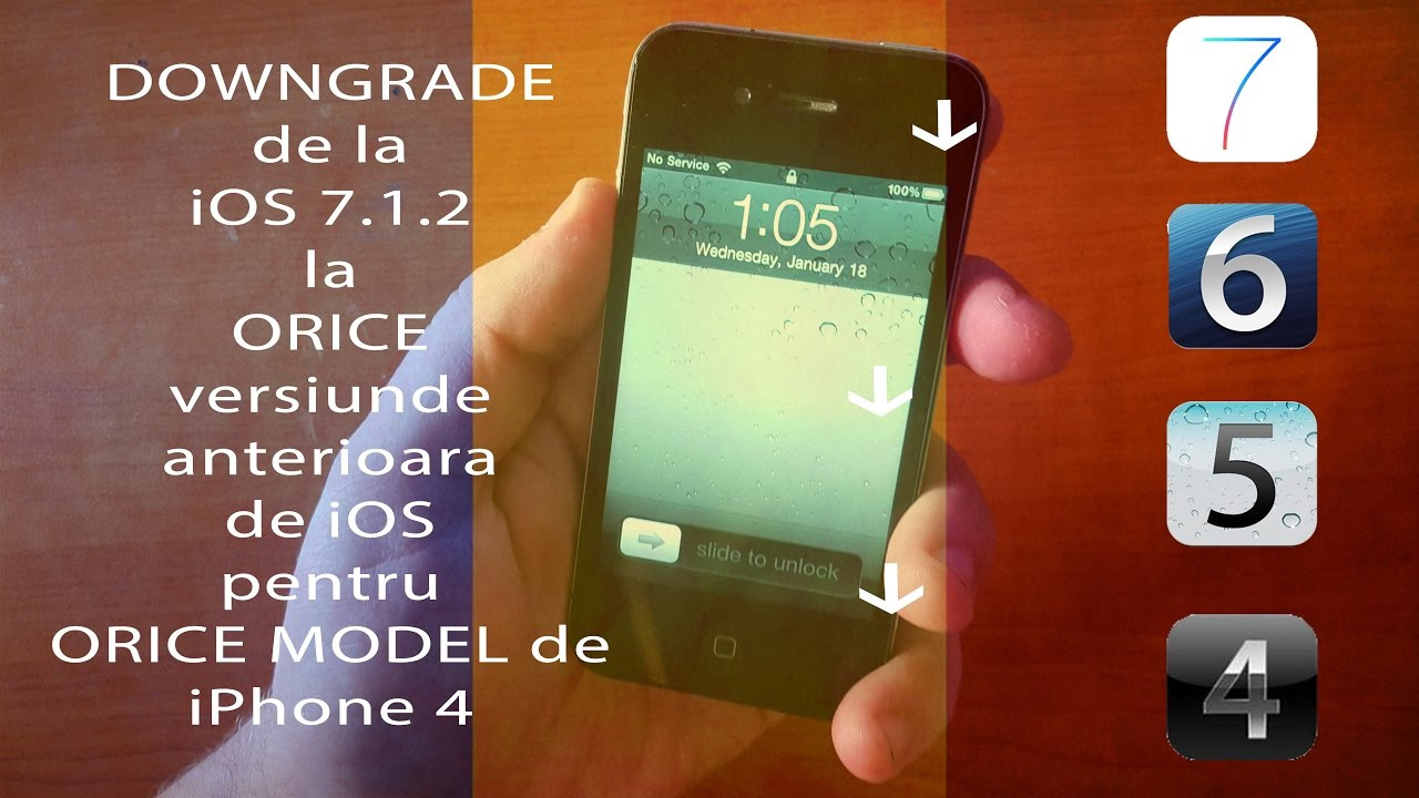 iphone 4 ios 7 downgrade ios 7 1 2 la ios 4 5 sau 6 pe orice iphone 4 14385