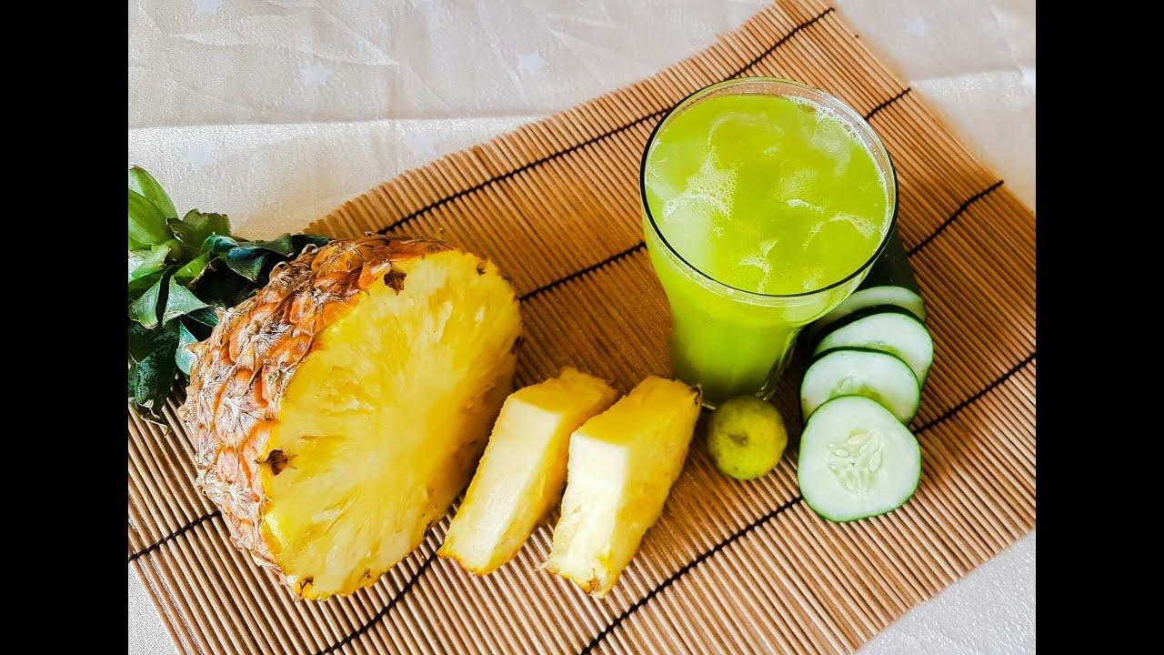 smoothie ananas concombre gingembre