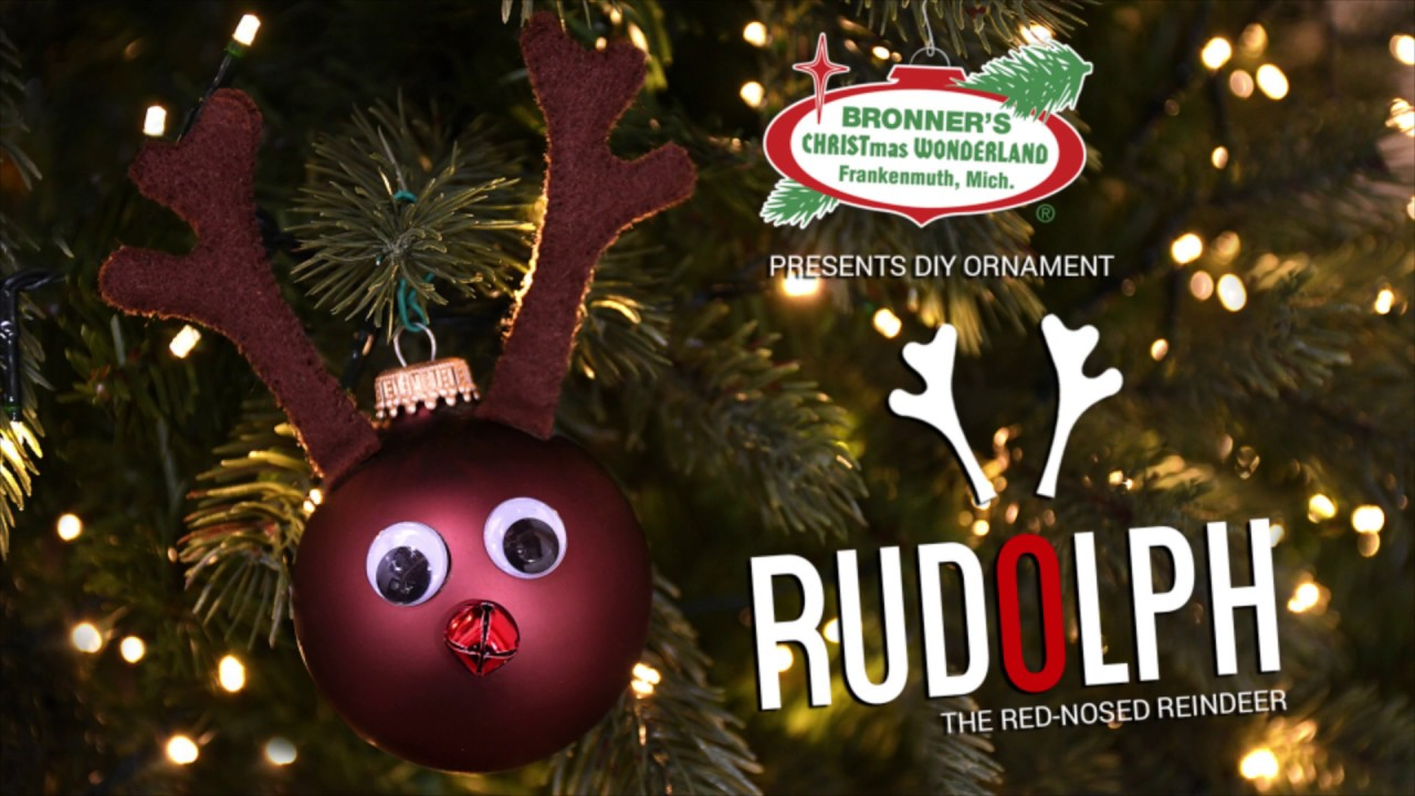 DIY Rudolph The Red Nosed Reindeer Ornament