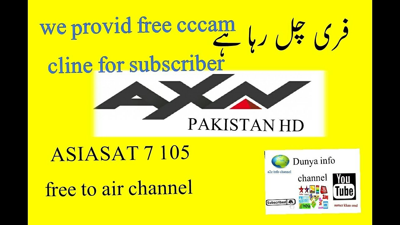 Asiasat 7 update axn Pakistan free to air free cccam cline