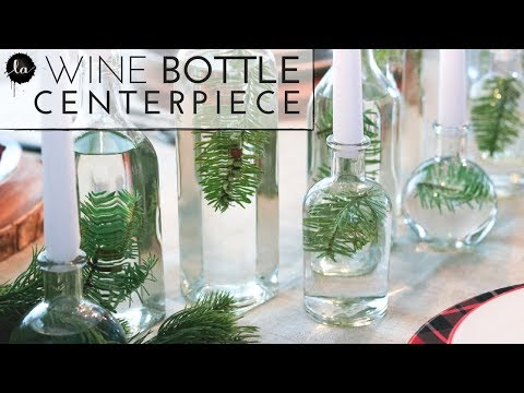 DIY Dining table Centerpiece | Glass bottles home decor | DIY best centerpiece | Neutral
