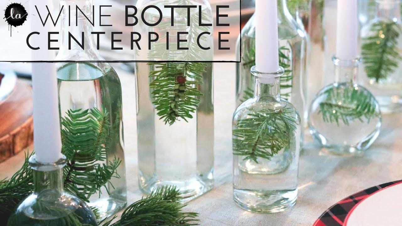 diy dining table centerpiece glass bottles home decor diy best centerpiece neutral