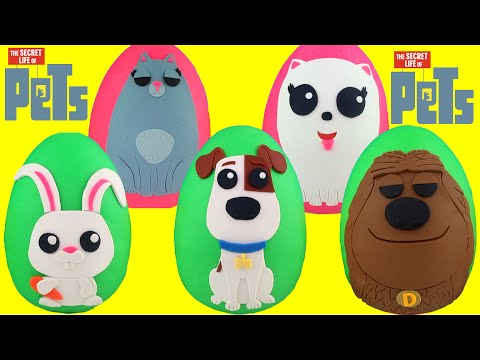 Thumbnail: The Secret Life of Pets Play Doh Surprise Eggs Compilation - Max, Duke, Gidget, Snowball, Chloe Toys