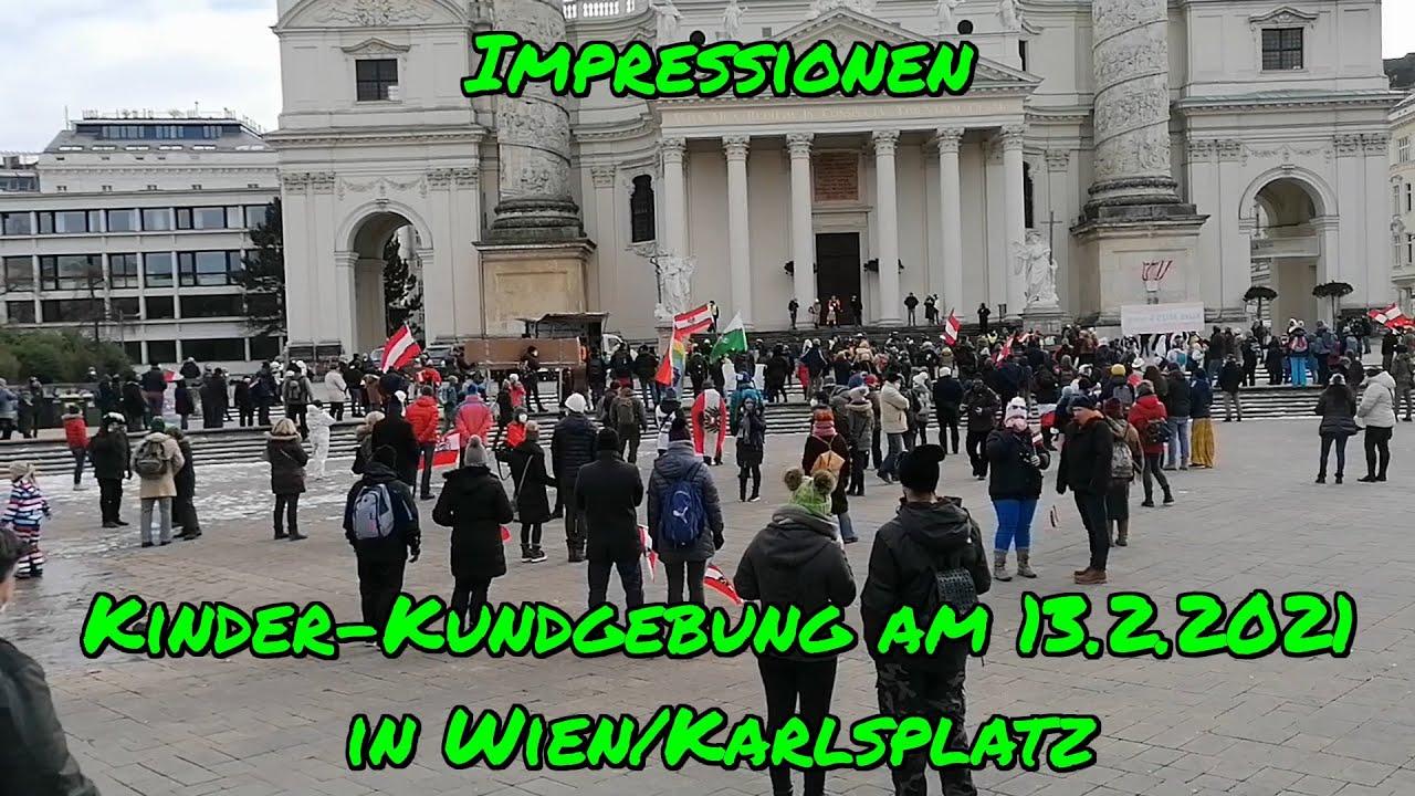 KINDER-KUNDGEBUNG am 13.2.2021 in Wien/Karlsplatz - Impressionen