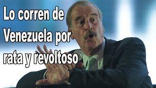 Venezolanos, los mexicanos también repudiamos a Vicente Fox