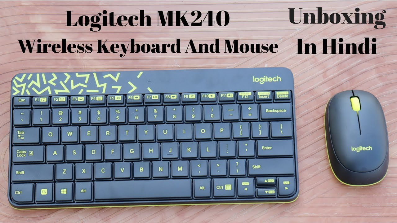 Logitech Mk240 Nano Wireless Keyboard And Mouse Combo Unboxing Review In Hindi