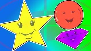 Formen sie den song | Cartoon für kinder | lehr-video | kinderlied für