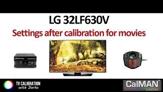 LG 32LF630V (LF630V) settings after calibration