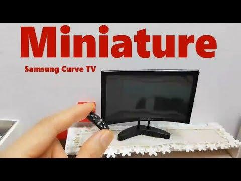 미니어쳐 삼성 커브 TV 만들기 Miniature Samsung Curve TV